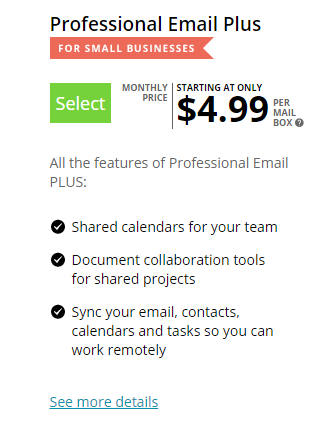 Network Solutions Professional Email Plus
