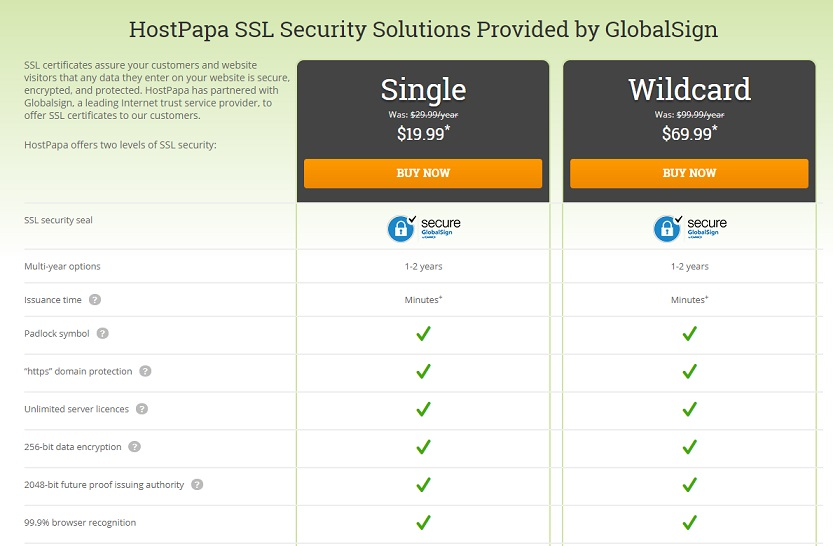 HostPapa SSL