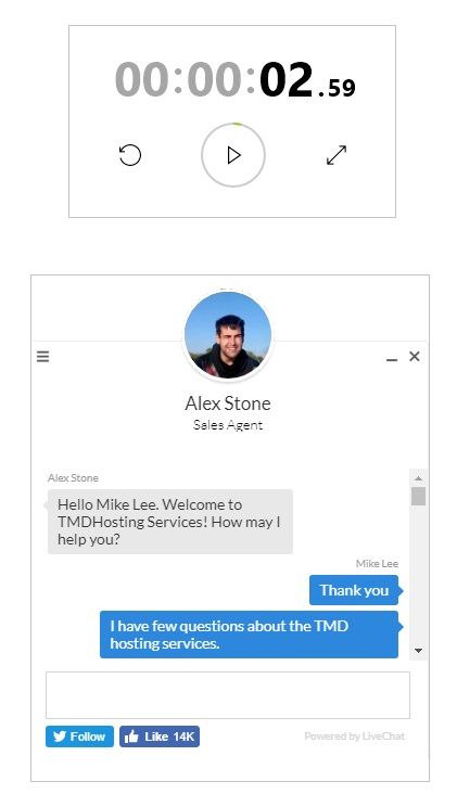 TMDHosting LiveChat Support Tria