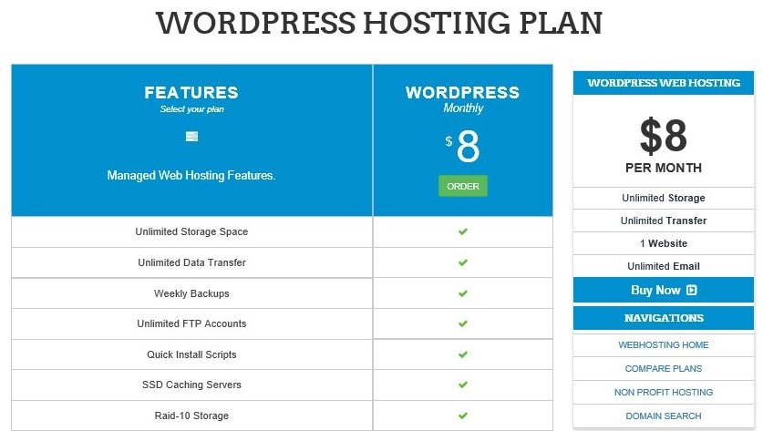 InterServer WordPress Hosting Plan