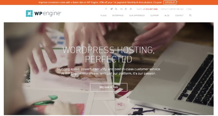 WP Engine Homepage