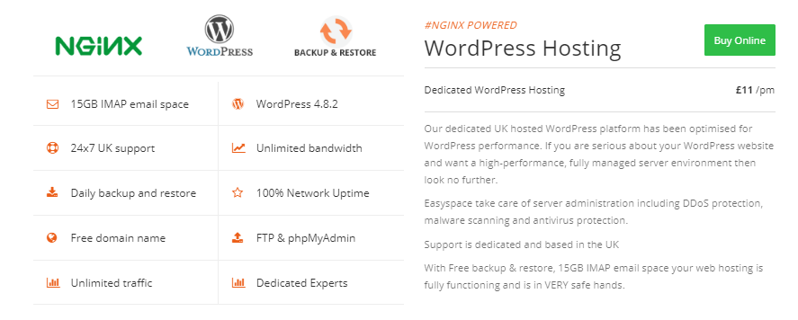 EasySpace WordPress Hosting