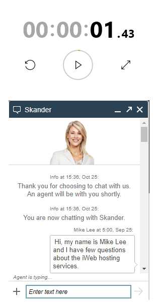 iWeb Satisfactory Live Chat Support