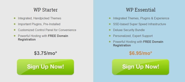 Netfirms WordPress Hosting Plan