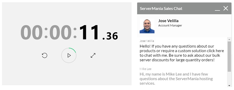ServerMania Live Chat Support