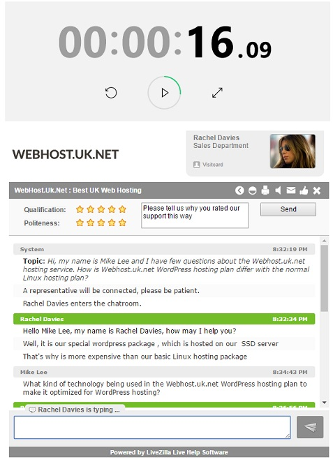 Webhost.uk.net Live Chat Support