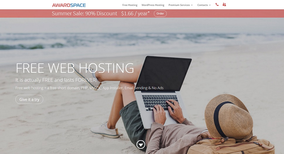 AwardSpace Homepage