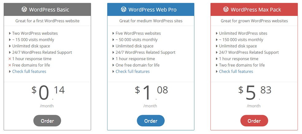 AwardSpace WordPress Hosting Plan
