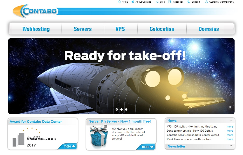Contabo Homepage