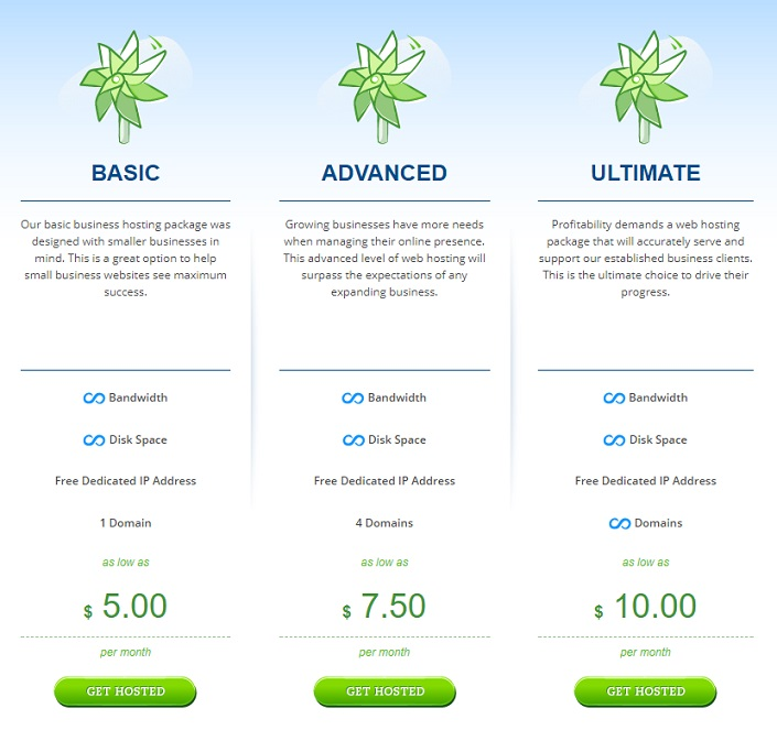 Hostwinds Business Hosting Plan
