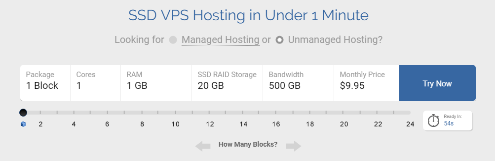 DotBlock VPS hosting plan