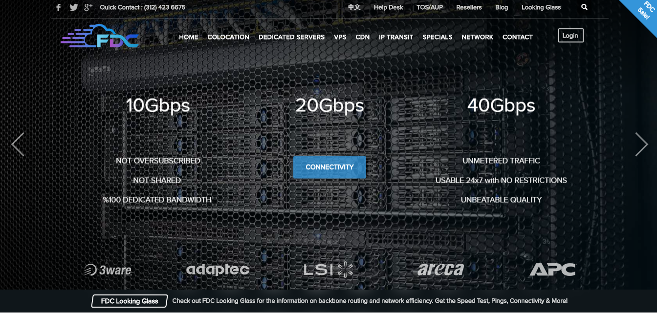FDC Server homepage