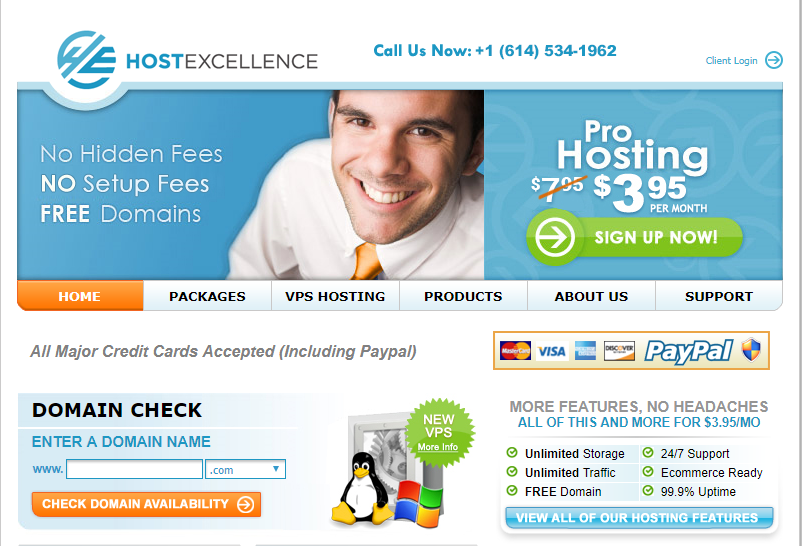 Hostexcellence homepage