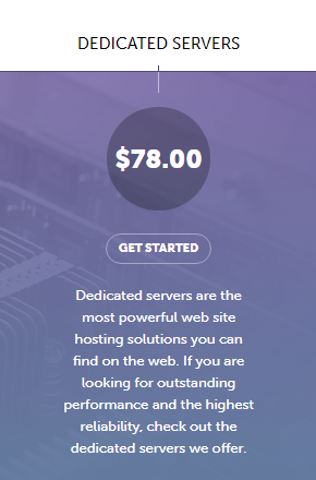 SiteValley Dedicated hosting plan