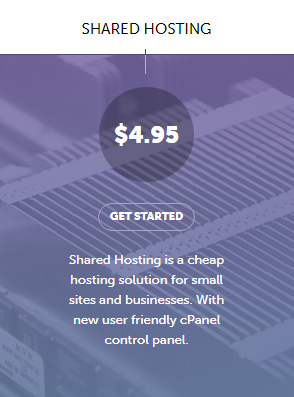 SiteValley Shared hosting plan