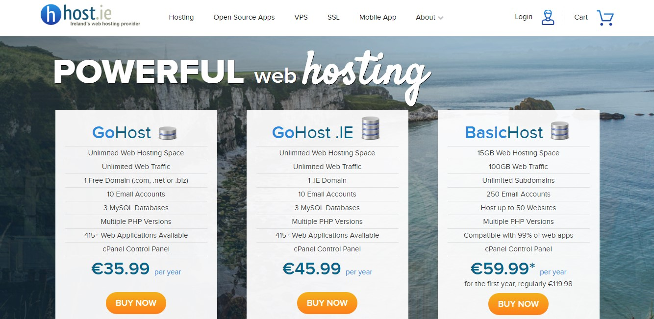 host.ie-Homepage