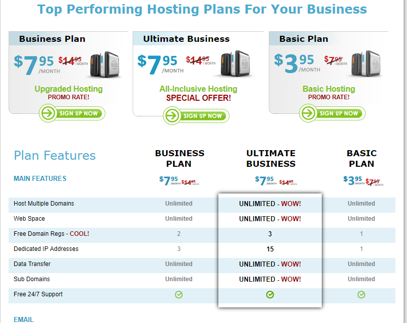 hostexcellence cpanel hosting plan