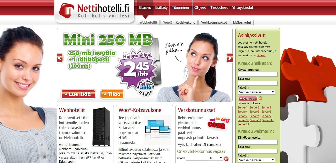 nettihotelli-homepage