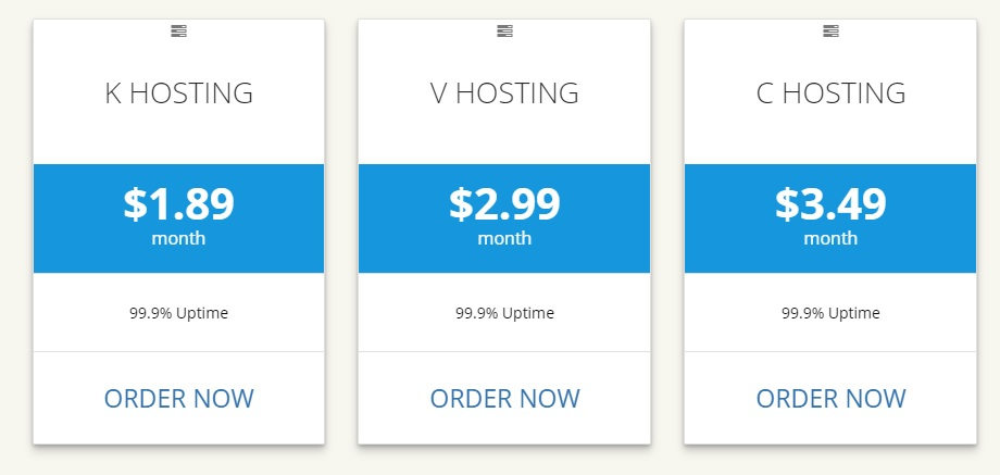 KVC Shared Hosting Plan