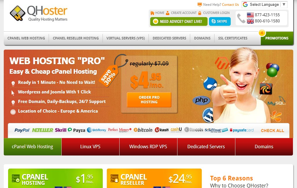 qhoster-homepage
