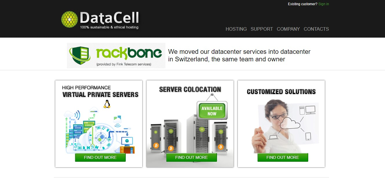 datacell-homepage