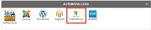 Select the PrestaShop icon