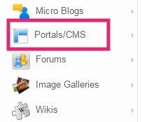 Click on the Portal/CMS button