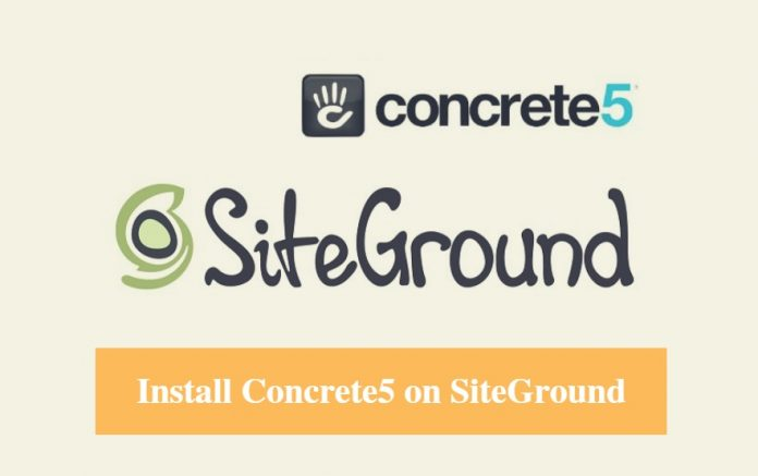 Install Concrete5 on SiteGround