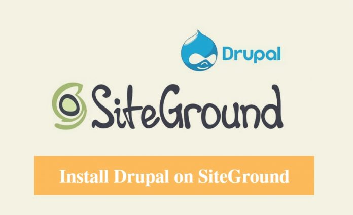Install Drupal on SiteGround