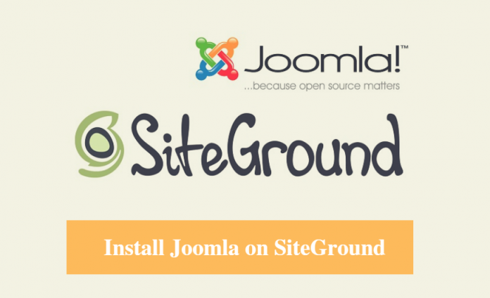 Install Joomla on SiteGround