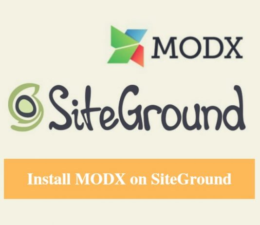 Install MODX on SiteGround