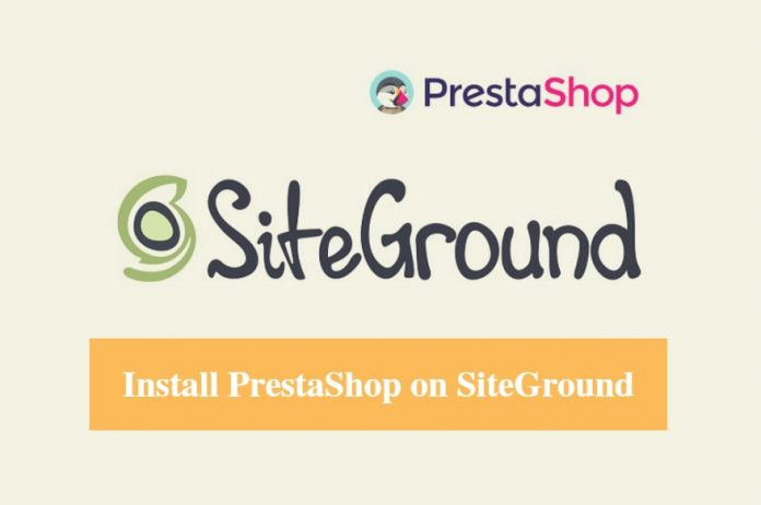 Install PrestaShop on SiteGround