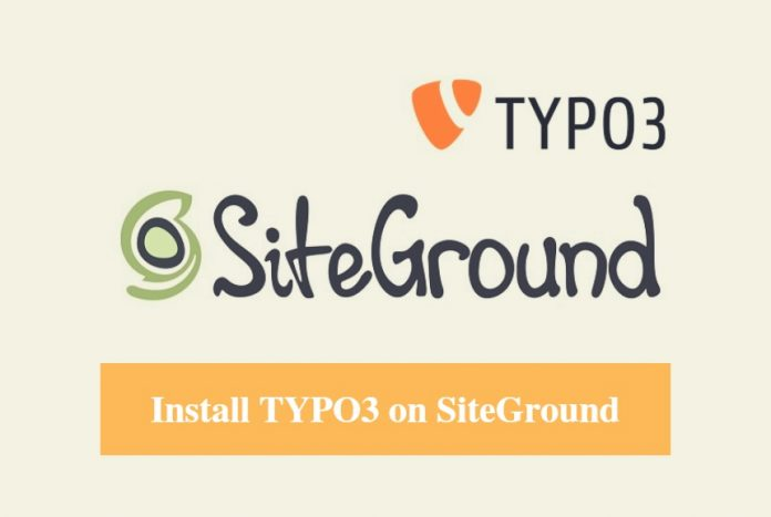 Install TYPO3 on SiteGround