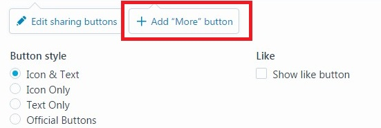 Add 'More' button