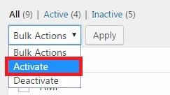 Activate option