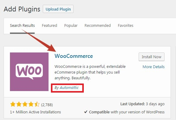 'WooCommerce' plugin