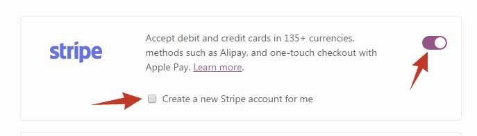 Create a new Stripe account