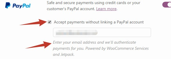 Accept payments without linking a PayPal account