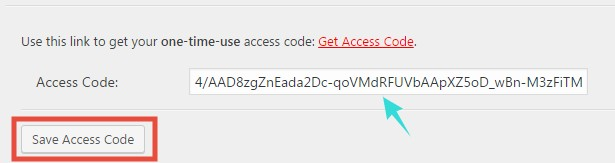 Save Access Code