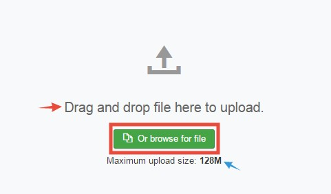 'Browse for file' button