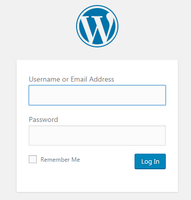 Log in to WordPress