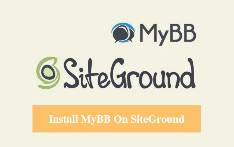 Install MyBB on SiteGround
