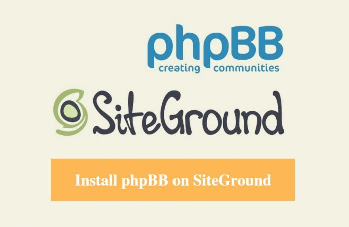 Install phpBB on SiteGround