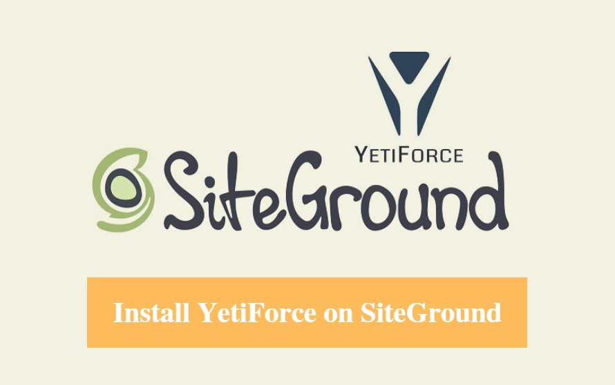 Install YetiForce on SiteGround