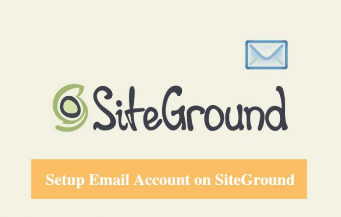 SiteGround Setup Email Account