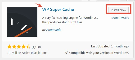 'WP Super Cache' plugin