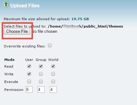 'Choose File' button