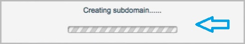 'Creating subdomain'