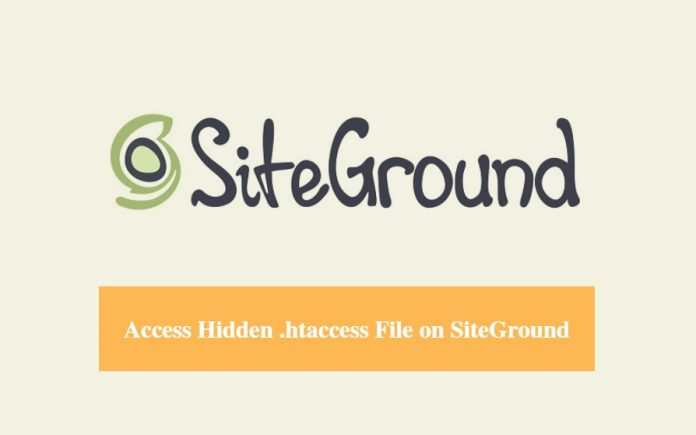 Access Hidden .htaccess File on SiteGround