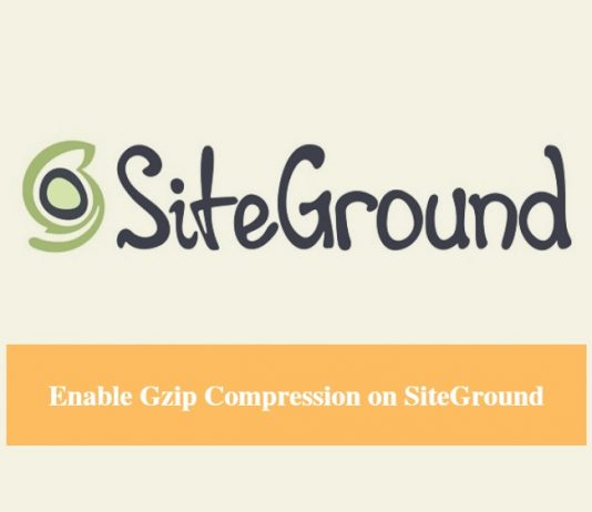 SiteGround Enable Gzip Compression